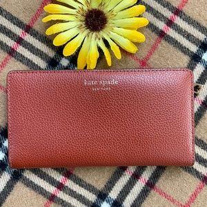 ♠️ KATE SPADE Leila Lthr. Warm Gingerbread Wallet!